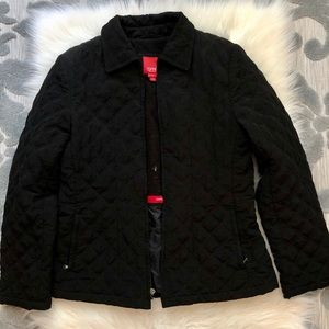 Thick Black Professional Fall/Winter Bomber Coat